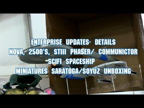 The Garage Episode 5: Enterprise Details, STIII Phaser/ Comm, Saratoga/Soyuz Unboxing