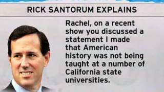 Rick Santorum says you can