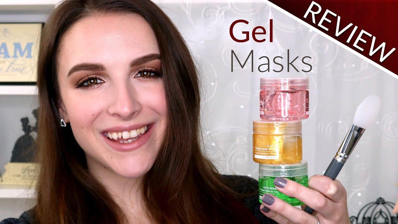 masque facial en gel