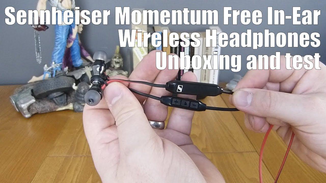 1f6314d2d69 Sennheiser Momentum Free In-Ear Wireless Headphones Unboxing and test