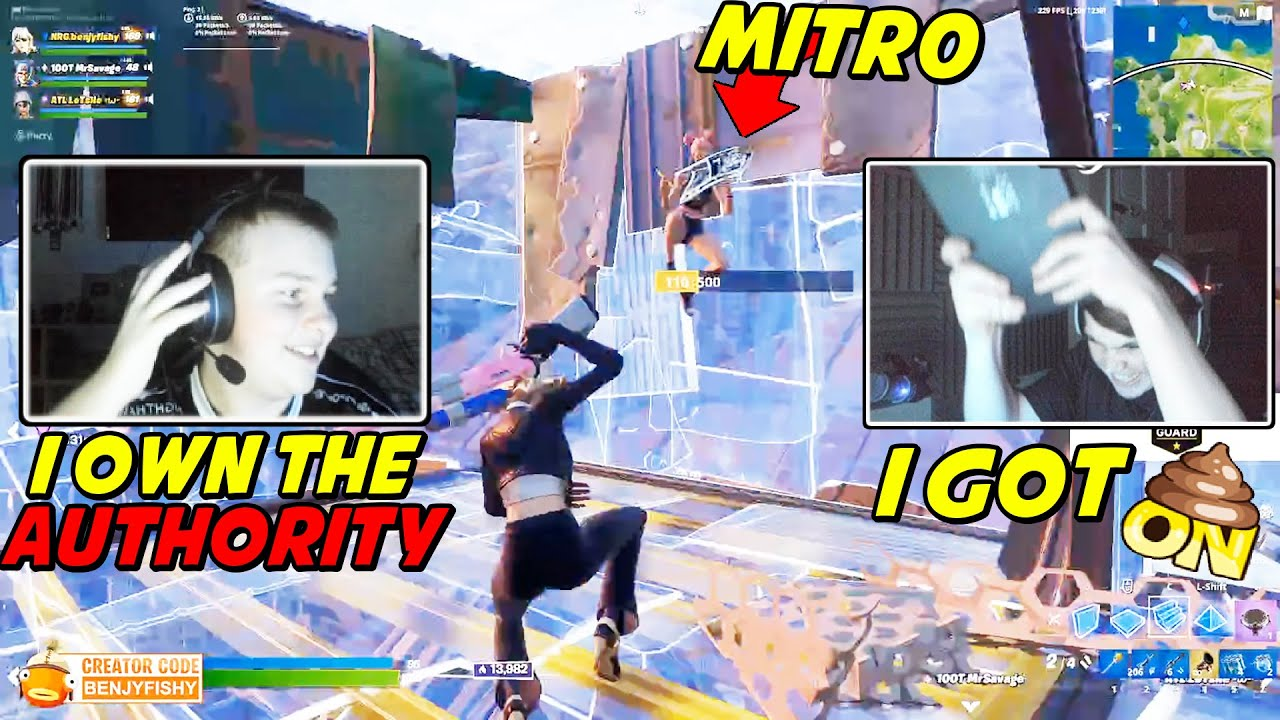 Benjyfishy KICKS Mongraal OUT of The Authority Then Gets in an INSANE Fight VS Mitr0 & THIS Happened