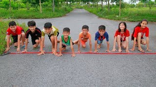 Kids Running Marathon Competition Learn to Exercise Children Song