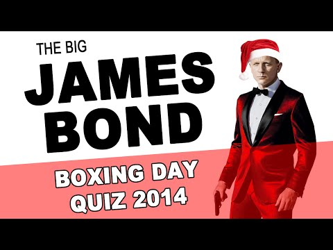 The Big James Bond Boxing Day Quiz 2014 | James Bond Radio Podcast #029