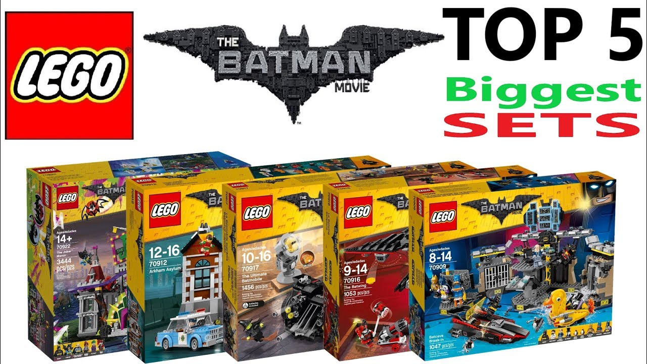Lego Batman Movie Top 5 Biggest Sets Of All Time Lego