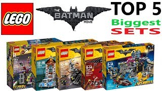 Lego Batman Movie Top 5 Biggest Sets Of All Time - Lego Speed Build Review