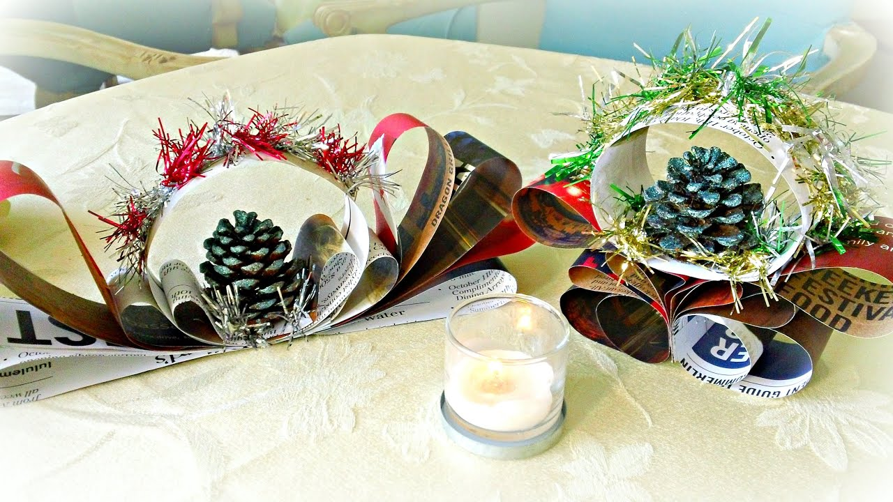 Sparkly Christmas Decorations Table Centerpieces