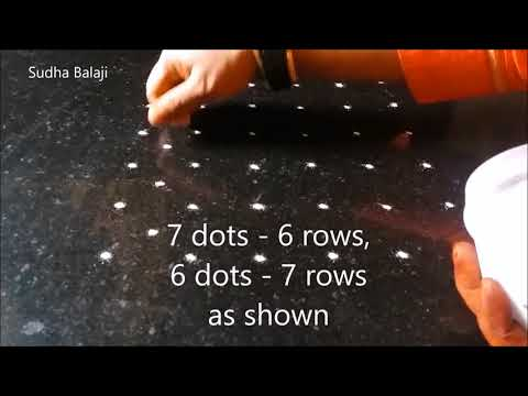 6 To 7 Dots Rangoli Video | Sudha Balaji Kolam Designs