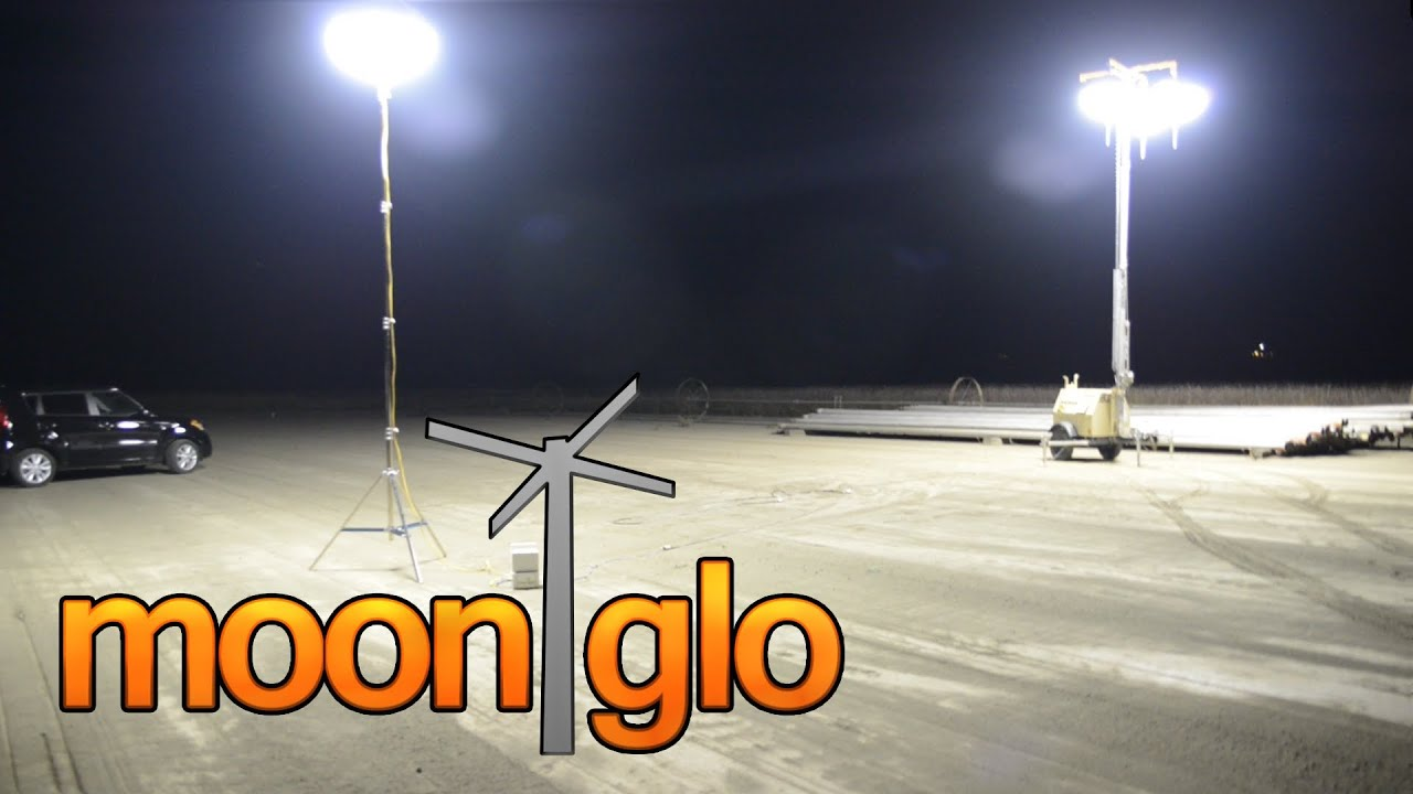 MoonGlo  Balloon Light Tower  Tripod Lighting Systems