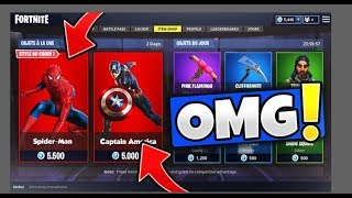 HAVE THE SKIN 'SPIDER-MAN' and 'CAPTAIN AMERICA' on FORTNITE: Royal Battle!!