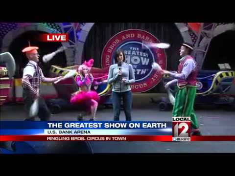 Perry Schaible gets a pie in the face at the circus