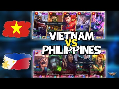 No.1 Gusion Philippines Vs No.2 Kimmy Vietnam - National Arena Contest - Mobile Legends
