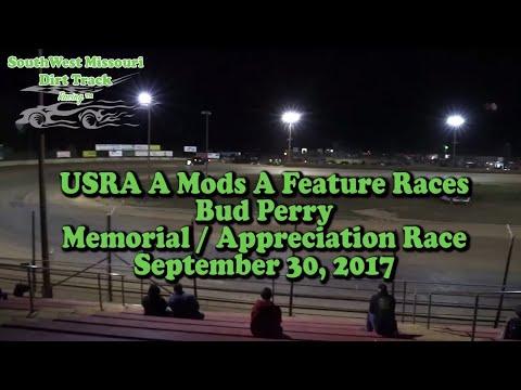 USRA A Mods A Feature Races Bud Perry Memorial   Appreciation Race September 30, 2017