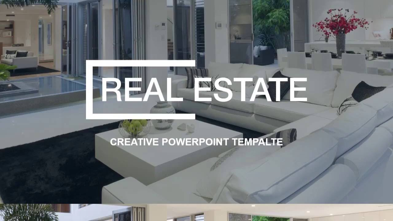real estate powerpoint presentation template - youtube, Powerpoint templates