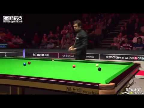 Genius at work: Ronnie O'Sullivan is 65 points to 0 down, needs every ball to win and they're placed horribly…