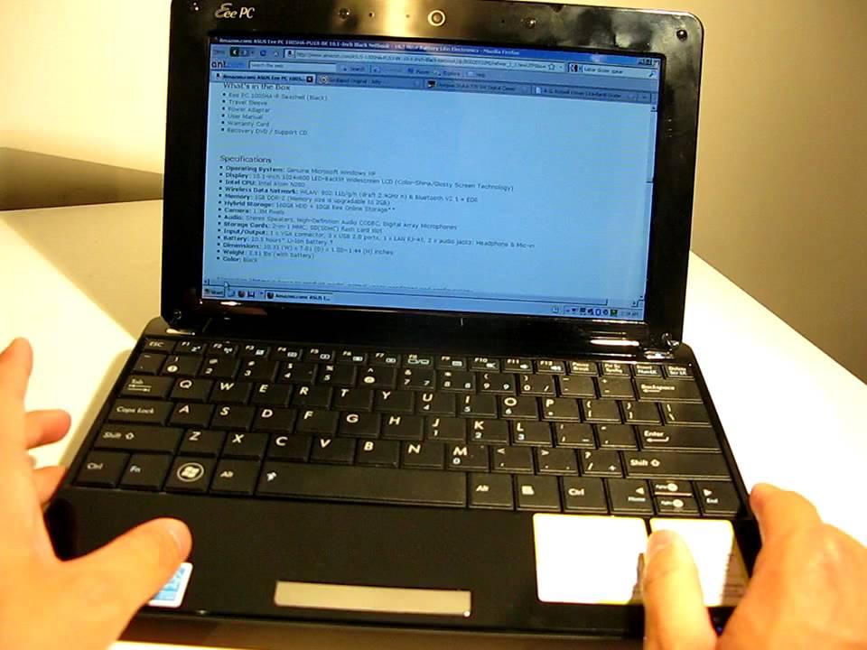 ASUS EEE PC 1005HA NETBOOK LINUX