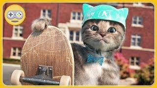 Котенок в школе - Веселые уроки с Крошкой Котом * мультик игра для детей