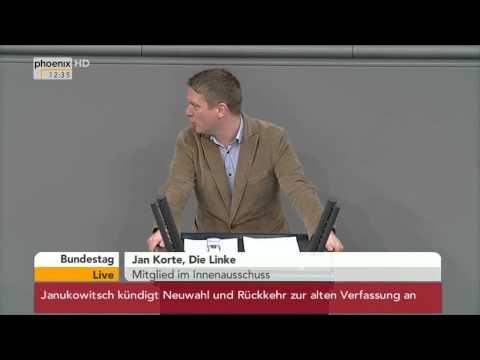 Bundestagssitzung - Debatte zur Vorratsdatenspeicherung am 21.02.2014