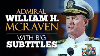 LEARN ENGLISH | ADMIRAL WILLIAM H. MCRAVEN: Change the World (English Subtitles)