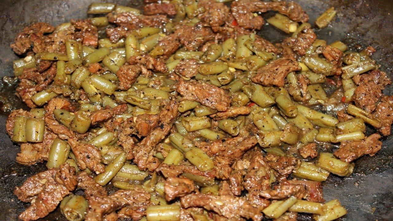 طريقة عمل شاورما اللحمة بالفاصوليا - طريقة مختلفة و طعم مميز و جديد للفاصوليا الخضراء مع اللحم