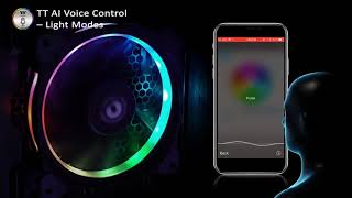 Thermaltake Riing Plus 12/14 LED RGB Radiator Fan TT Premium Edition TT AI Voice Control Demo