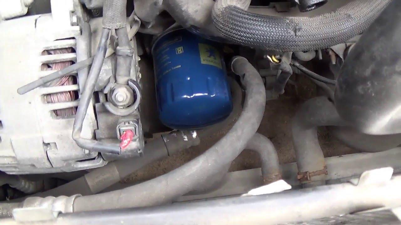 #3 Замена масла в Peugeot 307