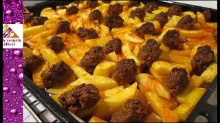 Fırında Patatesli Köfte Tarifi- Pratik Yemek Tarifleri