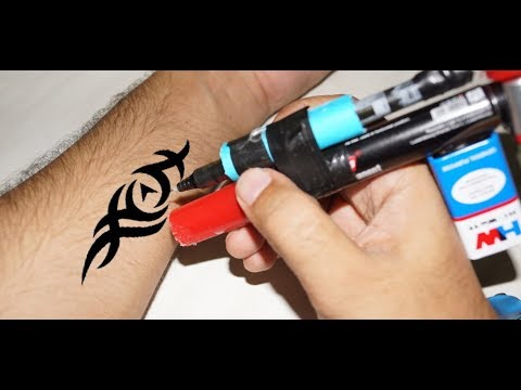 How To Make Simple Tattoo Machine At Home Using Dc Motor And Pen