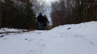 Walking in Winter in Montauk