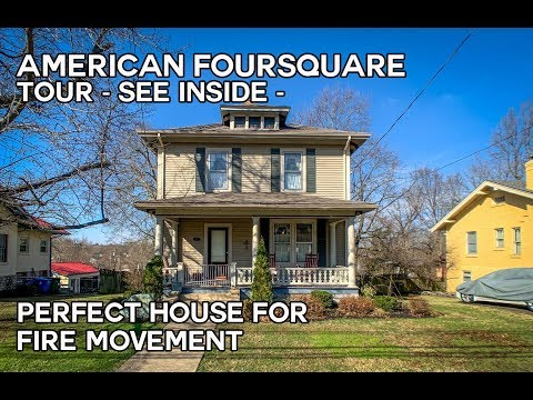 American Foursquare Houses, Vintage House, Craftsman Style House Tour