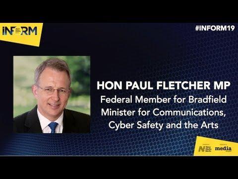 Paul Fletcher MP (Minister For Communications) | INFORM News Media Summit 2019