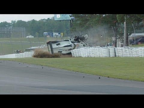 IMSA WeatherTech SportsCar Championship 2017. SportsCar Grand Prix. Huge Crash