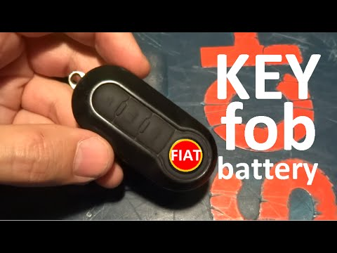fiat 500 fiat ducato keyfob battery replacement youtube. Black Bedroom Furniture Sets. Home Design Ideas