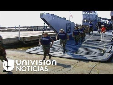Imágenes del día que México cruzó la frontera para ayudar a EEUU