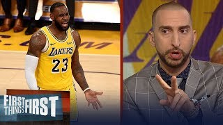 Nick Wright and Cris Carter react to LeBron, Lakers 0-3 start | NBA | FIRST THINGS FIRST