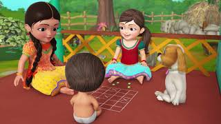Ashta Chamma - The Indian Board Game | Telugu Rhymes for Children | Infobells