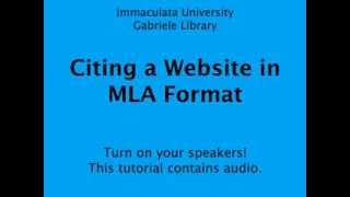 Citing a Website in MLA Format