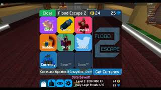 Roblox Flood Escape 2 Code For 100 Gems