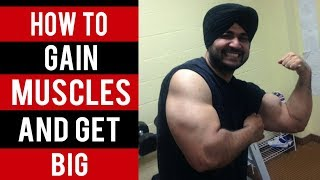 CONCEPT: How to GET BIG and GAIN MUSCLES!! (Hindi / Punjabi)