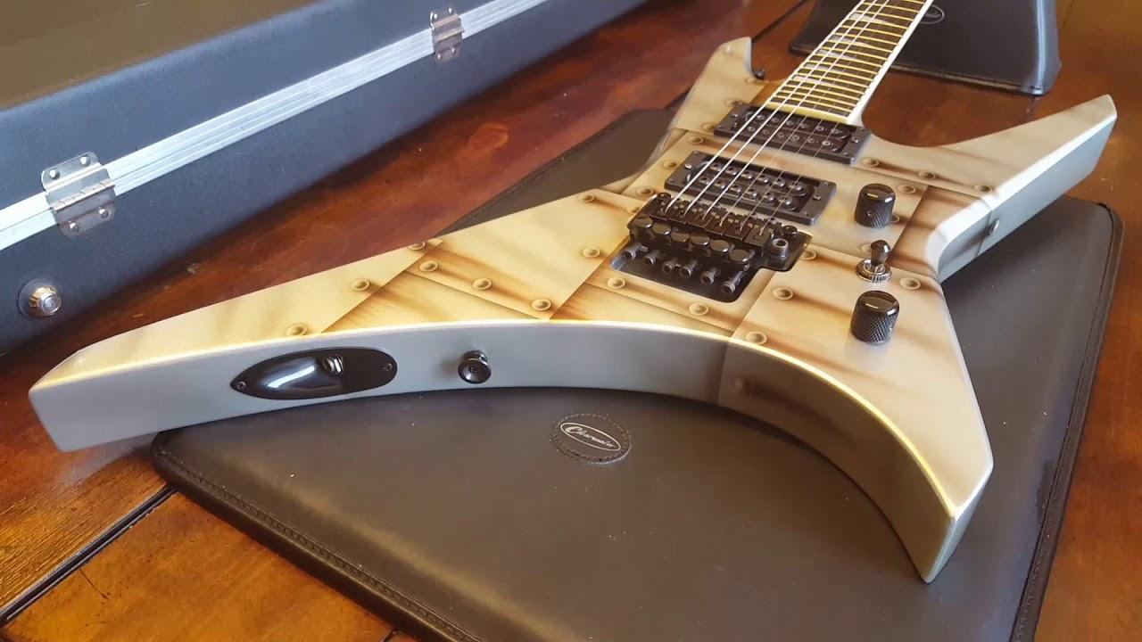 jackson usa warrior wr1 bolted steel floyd rose seymour duncan pickups guitar close up video. Black Bedroom Furniture Sets. Home Design Ideas