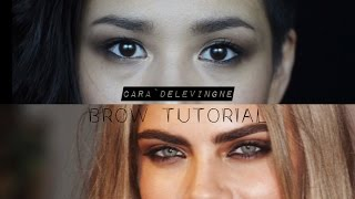Cara Delevigne Brow Tutorial | How to Create Bold Brows at Home