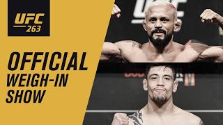 UFC 263: Live Weigh-in Show