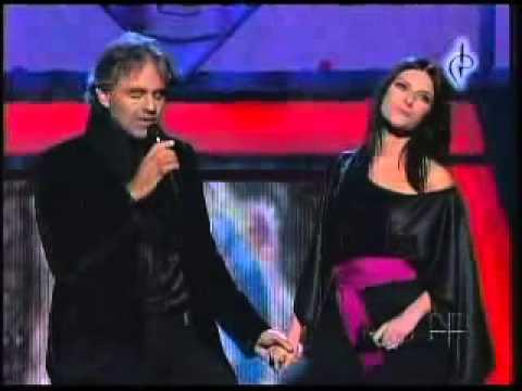 Andrea Bocelli y Laura Pausini