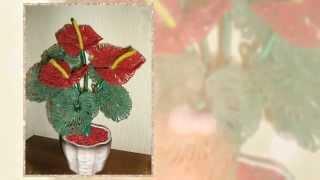 Цветы из бисера  Антуриум