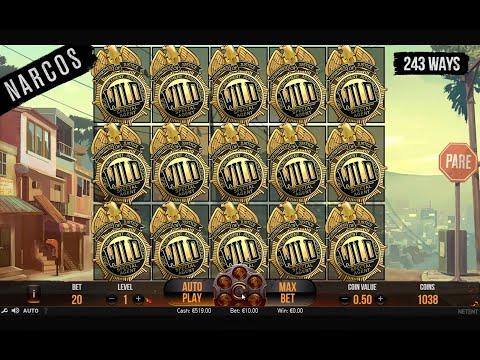 Must Watch! - Casino Slot Narcos 10 $ Bet X 70.000 Maxim Win Full Wilds Screen!!!!