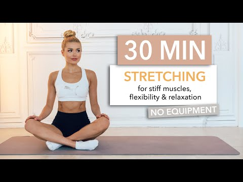30 MIN FULL BODY STRETCHING - perfect for rest days / No Equipment I Pamela Reif
