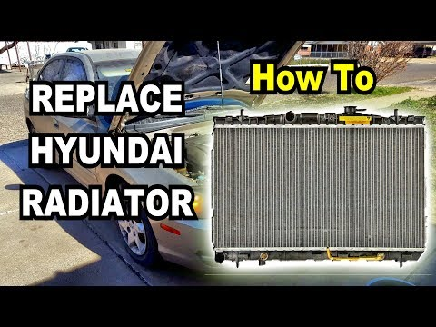 🚗 DIY: How to remove and replace the Radiator on a Hyundai Elantra. Complete Walk-through Guide