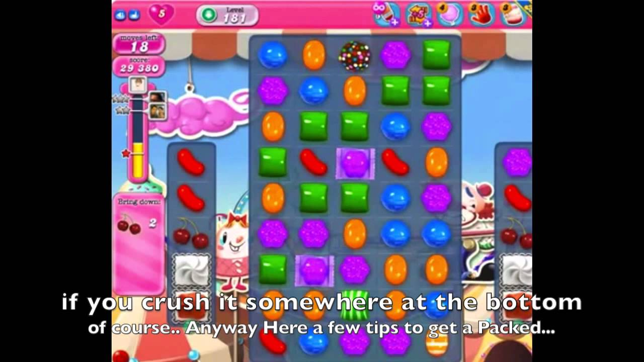 how to win level 181 in candy crush