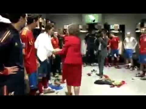 Puyol naked infront queen sofia of spain.