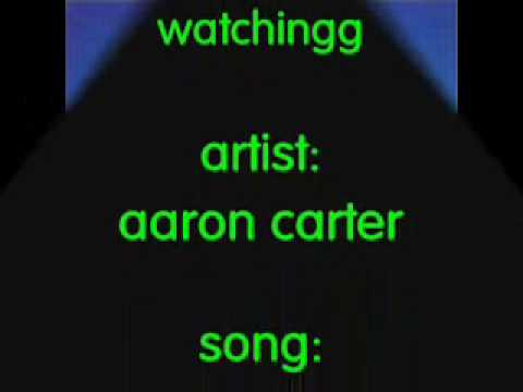 America a O by Aaron Carter [[lyrics on screen]]