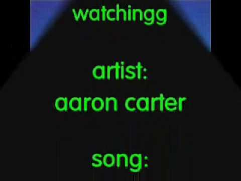 America a O by Aaron Carter [[lyrics on screen]]